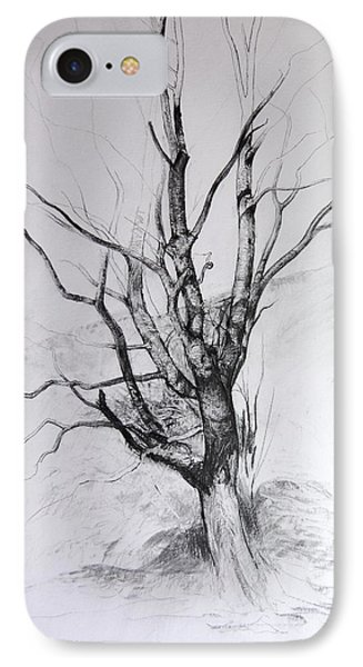 Study Of A Tree Phone Case by Harry Robertson