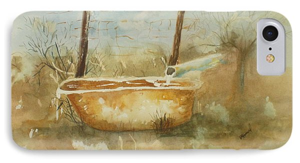 Study Of A Watering Tub IPhone Case by Vicki  Housel