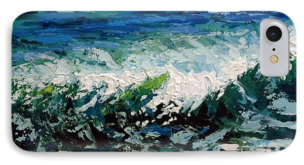 IPhone Case featuring the painting Study Of A Wave by Suzanne McKee