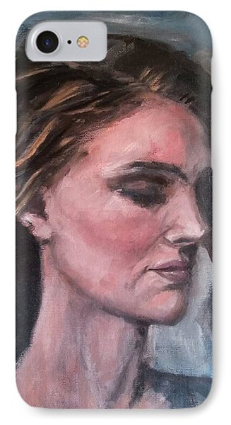 Study Of A Woman In Moonlight #1 Phone Case by Brian Kardell