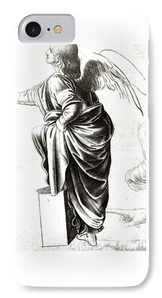 Study Of An Angel  IPhone Case by Leonardo Da Vinci