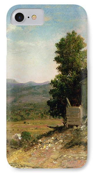 Study Of Old Barn In New Hampshire IPhone Case by George Loring Brown
