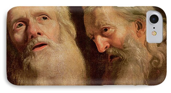 Study Of The Heads Of Two Old Men IPhone Case