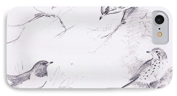 Study Of Thrushes IPhone Case