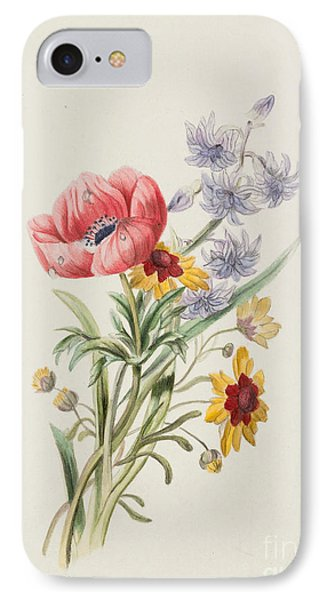 Study Of Wild Flowers IPhone Case by English School