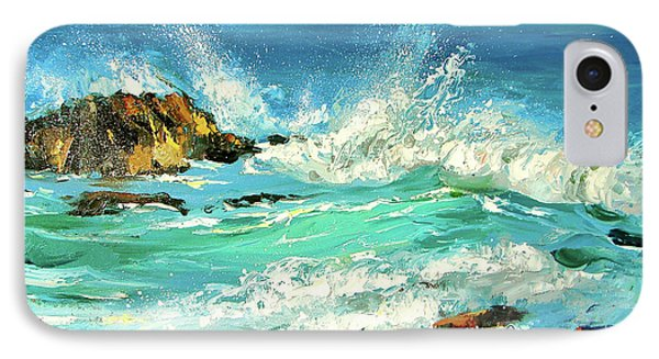 IPhone Case featuring the painting Study Wave by Dmitry Spiros