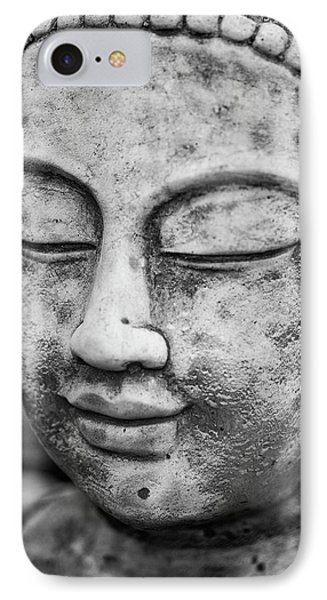Stunning Buddha Statue Portrait With Shallow Depth Of Field And  IPhone Case by Matthew Gibson