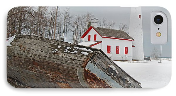 Sturgeon Point Lighthouse Phone Case by Michael Peychich
