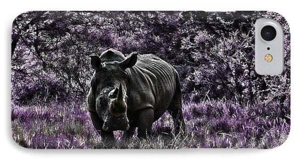 Styled Environment-the Modern Trendy Rhino Phone Case by Douglas Barnard