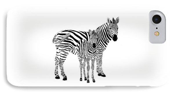 Stylized Zebra With Child IPhone Case