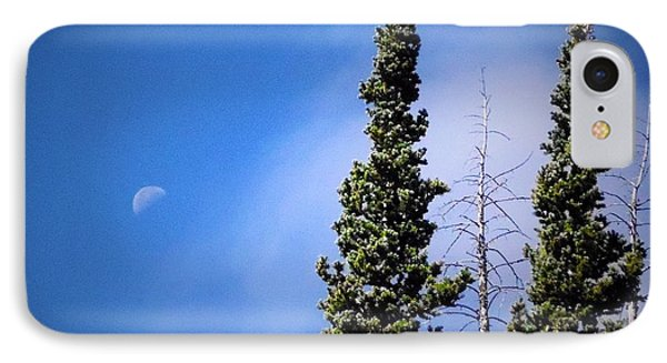 IPhone Case featuring the photograph Subalpine Fir With Moon by Deborah Moen