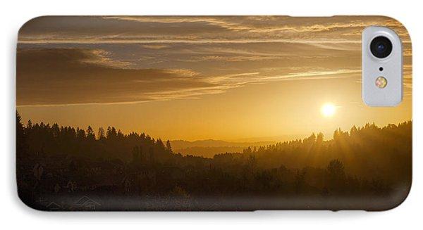Suburban Golden Sunset Phone Case by David Gn