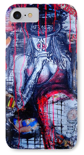 IPhone Case featuring the painting Succubus 2 by Viktor Lazarev