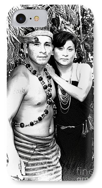 IPhone Case featuring the photograph Sucua Shaman And Spouse by Al Bourassa