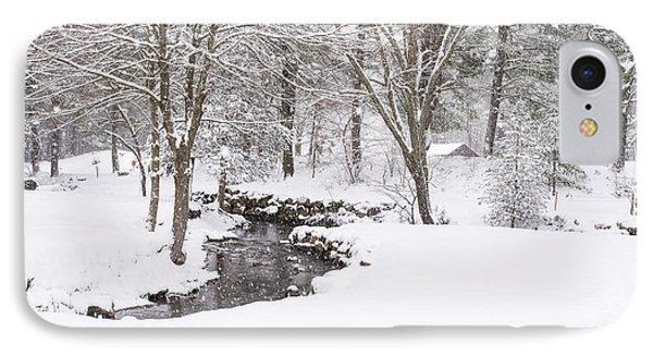 Sudbury Ma Winter Stream IPhone Case