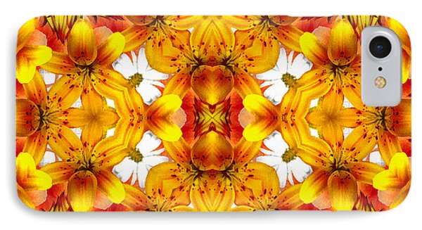 Sudden Heat Mandala IPhone Case by Georgiana Romanovna
