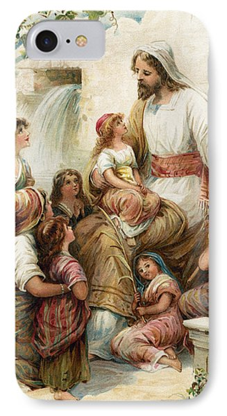 Suffer The Little Children To Come To Me IPhone Case by Robert Ambrose Dudley