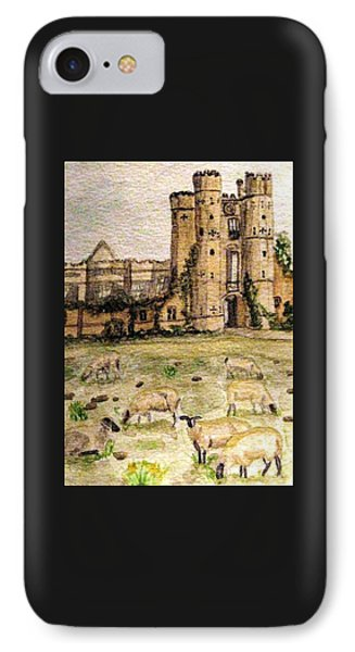 Suffolk Sheep Grazing In Sussex Phone Case by Angela Davies