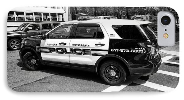 suffolk university campus police patrol vehicle Boston USA IPhone Case