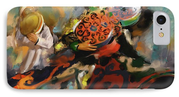 Sufi Whirling 450 2 IPhone Case by Mawra Tahreem