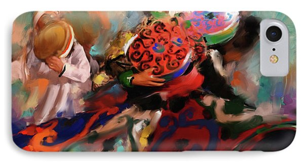 Sufi Whirling 450 I IPhone Case by Mawra Tahreem