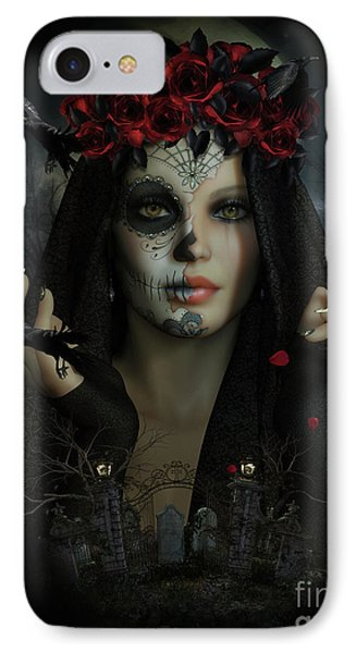 IPhone Case featuring the digital art Sugar Doll Magic by Shanina Conway
