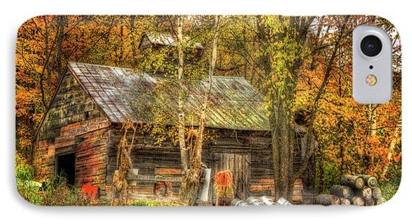 Sugarhouse At Sugarbush Farm - Woodstock Vermont IPhone Case by Joann Vitali
