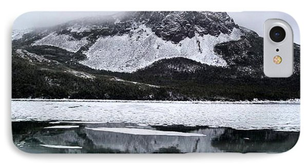 IPhone Case featuring the photograph Sugarloaf Hill Reflections In Winter by Barbara Griffin