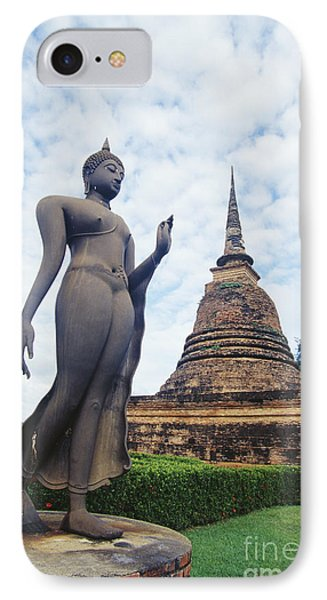 Sukhothai Historical Park IPhone Case by Bill Brennan - Printscapes