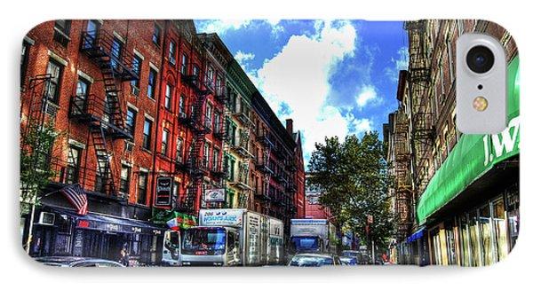 Sullivan Street In Greenwich Village Phone Case by Randy Aveille