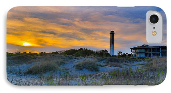 Sullivan's Island Lighthouse At Dusk - Sullivan's Island Sc IPhone Case