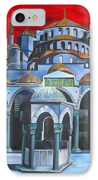 Sultan Ahmed Mosque Istanbul IPhone Case by Tracey Harrington-Simpson