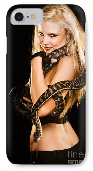 Python iPhone 7 Case - Sultry Sedutive Snake Dancer by Jorgo Photography - Wall Art Gallery