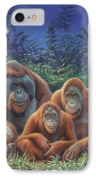 Sumatra Orangutans IPhone Case by Hans Droog