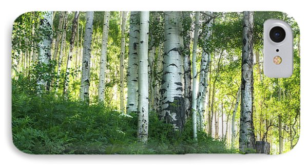 IPhone Case featuring the photograph Summer Aspen Forest by Tim Reaves