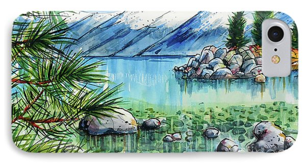 IPhone Case featuring the painting Summer At Lake Tahoe by Terry Banderas