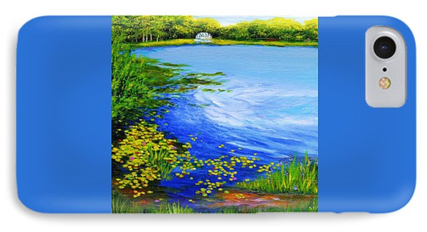 Summer At The Lake IPhone Case by Anne Marie Brown
