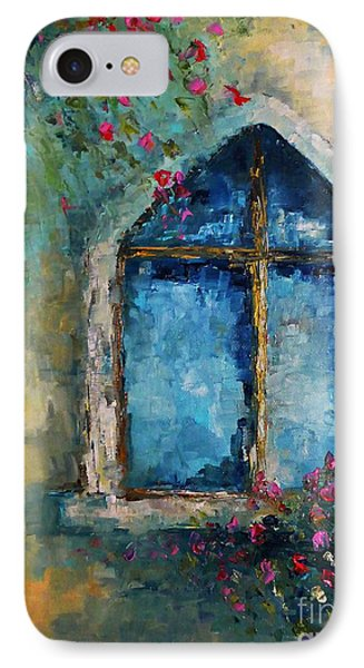IPhone Case featuring the painting Summer At The Old Castle by AmaS Art