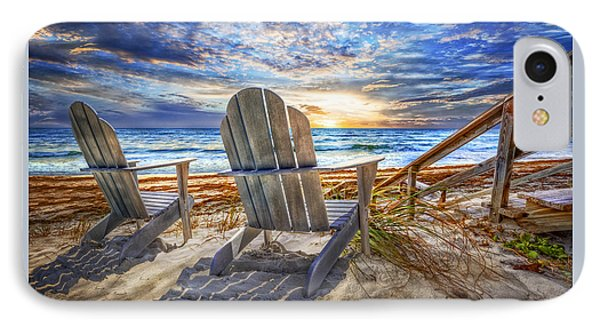 Summer At The Shore IPhone Case by Debra and Dave Vanderlaan