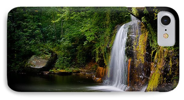 IPhone Case featuring the photograph Summer At Wolf Creek Falls by Rikk Flohr