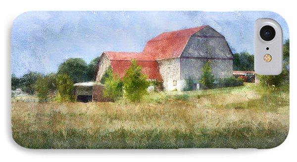 IPhone Case featuring the digital art Summer Barn by Francesa Miller