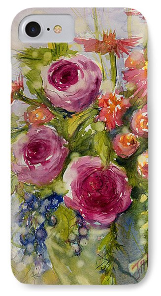 Summer Bouquet IPhone Case by Judith Levins