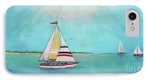 IPhone Case featuring the painting Summer Breeze-b by Jean Plout