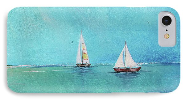 IPhone Case featuring the painting Summer Breeze-e by Jean Plout