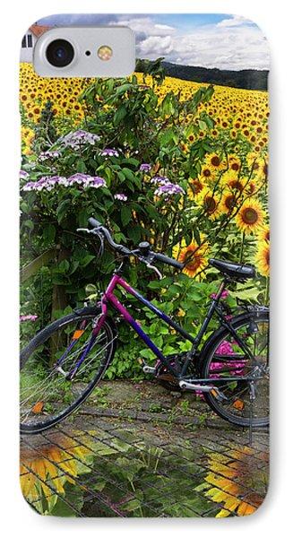 Summer Cycling Phone Case by Debra and Dave Vanderlaan