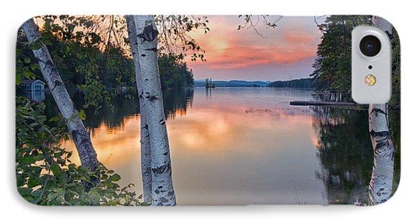 Summer Evening On Highland Lake IPhone Case
