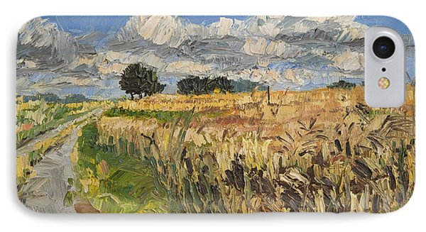 Summer Fields Plein Air Landscape IPhone Case by Martin Stankewitz