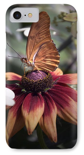 Summer Floral With Butterfly 03 Vertical IPhone Case by Thomas Woolworth