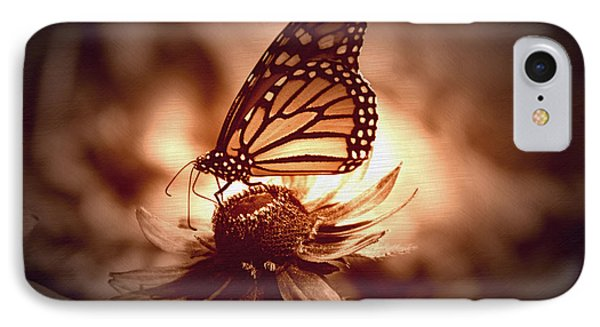 Summer Floral With Monarch Butterfly 01 IPhone Case by Thomas Woolworth