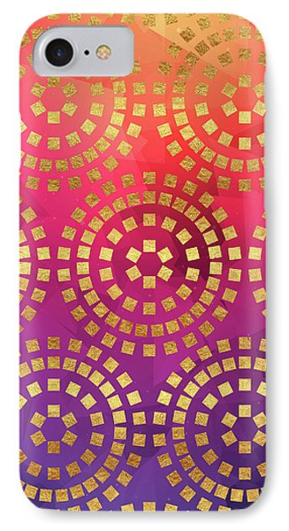Summer Heat Colourful Geometric Abstract Art IPhone Case by Tina Lavoie